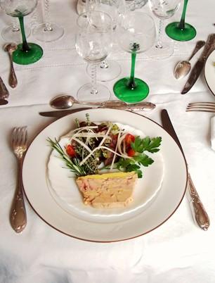 Assiette de foie gras décorée