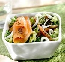 Salade de choux e de saumon au naturel
